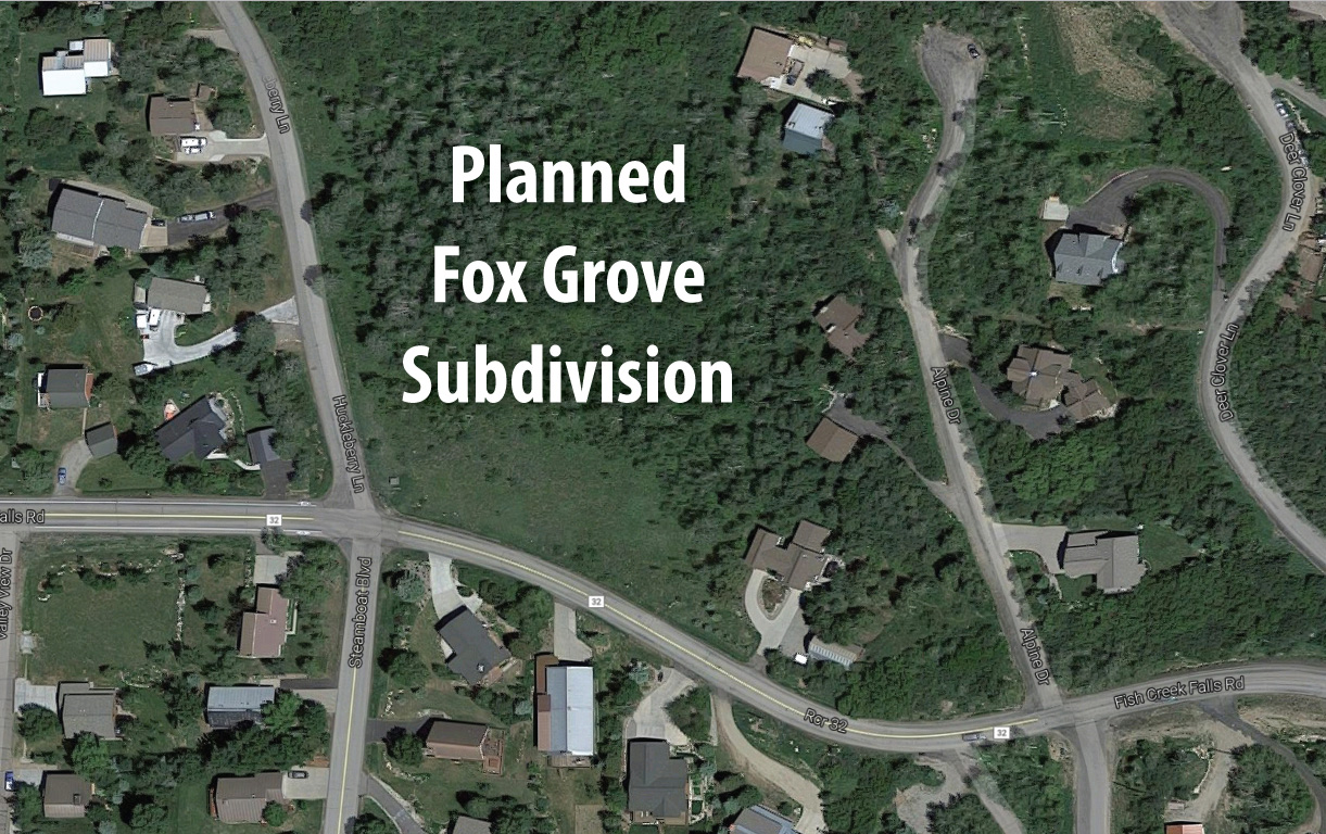 Planned Fox Grove subdivision would be built just north of Fish Creek Falls Road in Routt County.