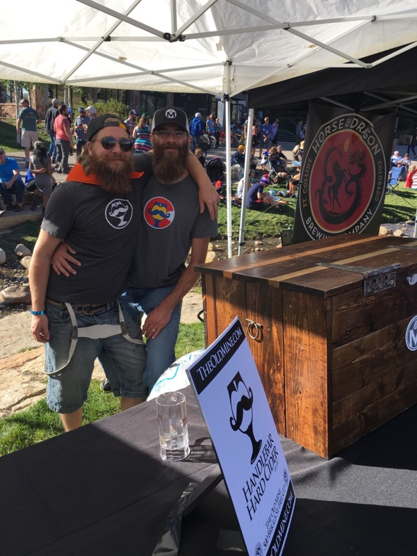 In this photo: DJ Reiman and Brylon Bink from The Old Mine Cidery and Brewpub