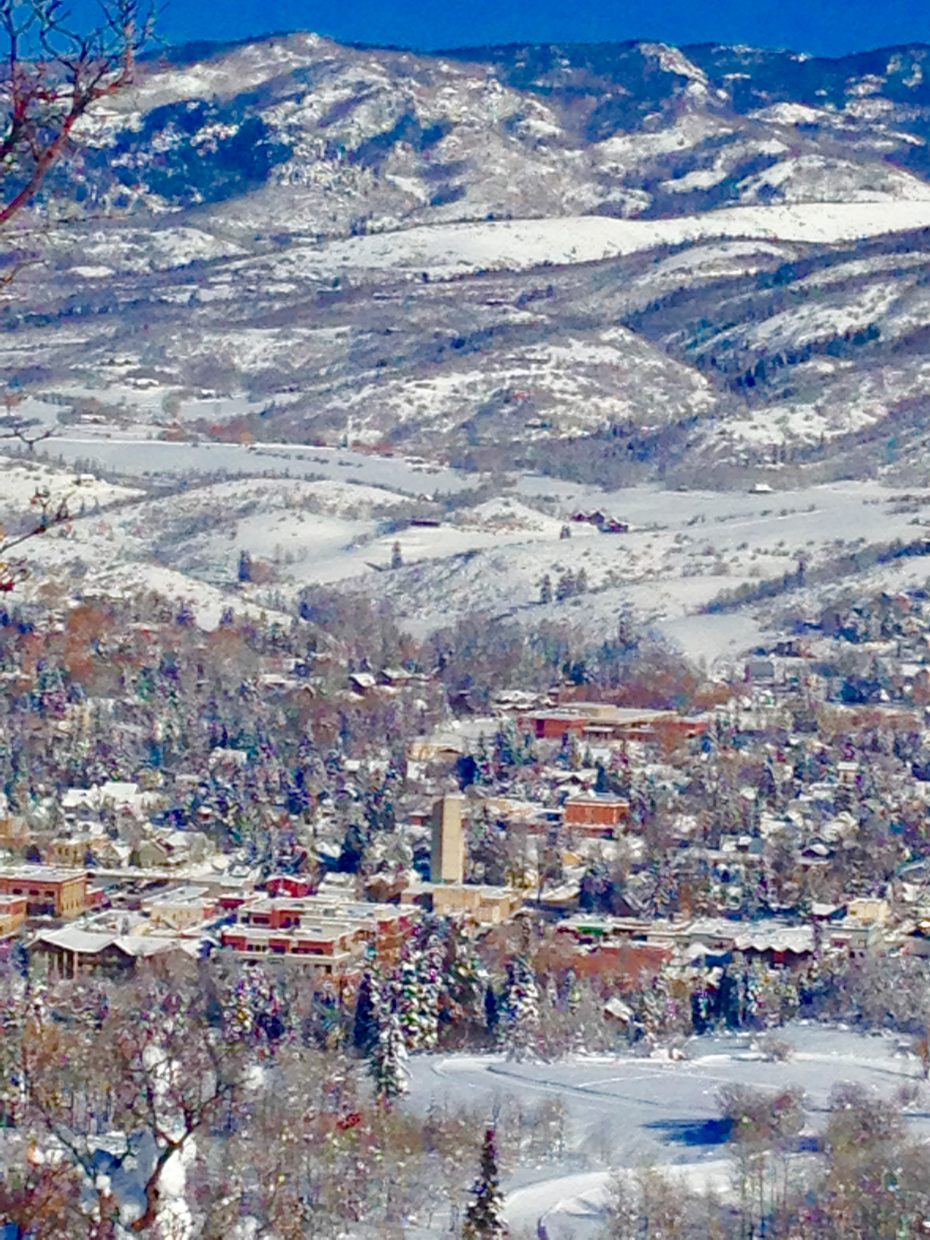 """View of Steamboat from Emerald Mountain."" Submitted by Barbara Sparks."