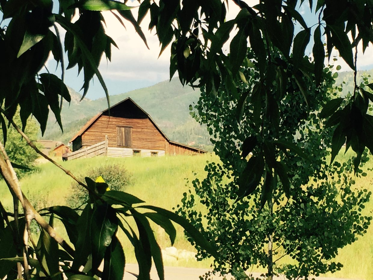 I never get tired of looking at the barn. Submitted by Tina Weintraub.