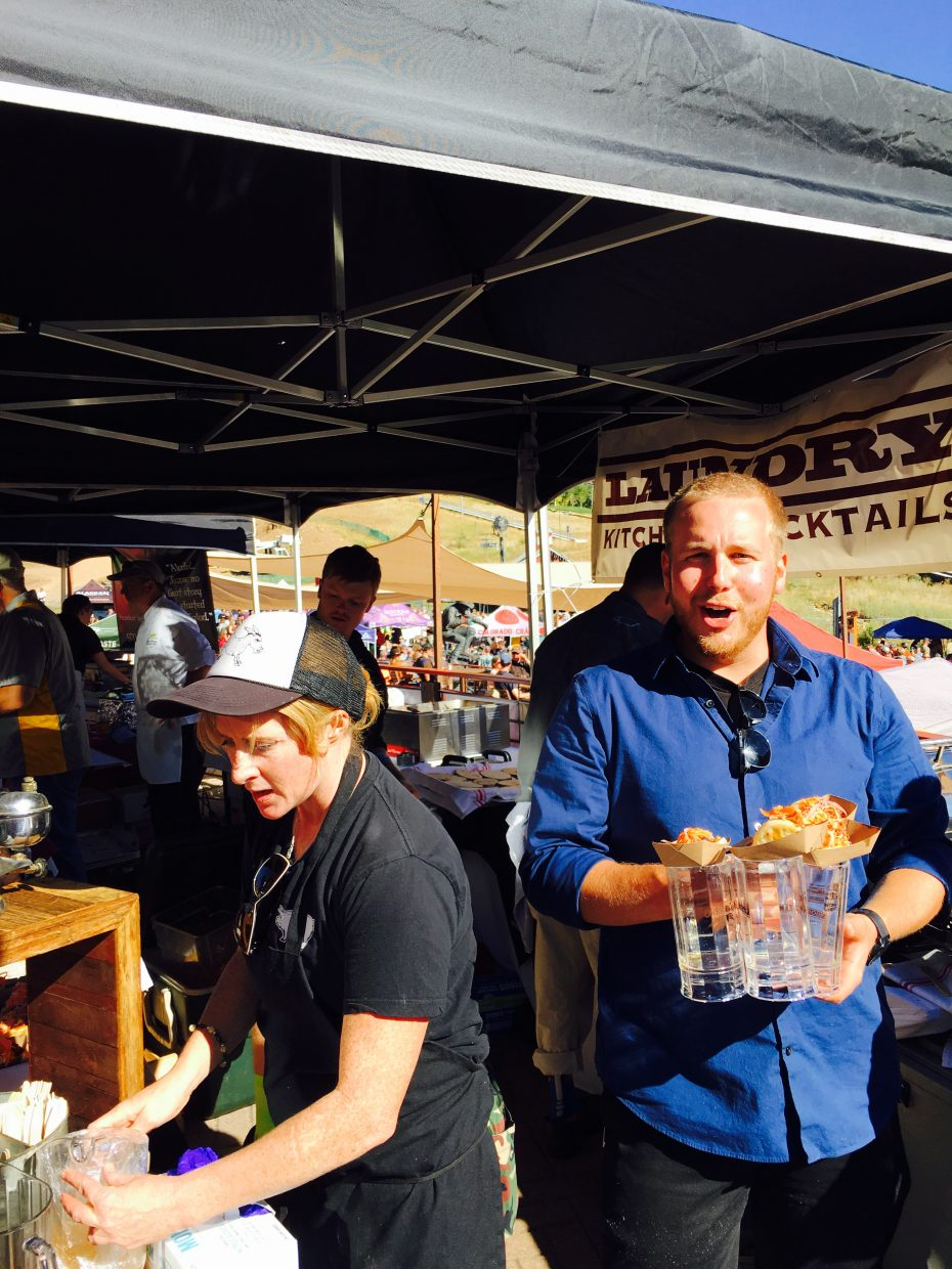 In this photo: Aaron Kinslow with this year's Beef Cookoff restaurant winner, The Laundry.