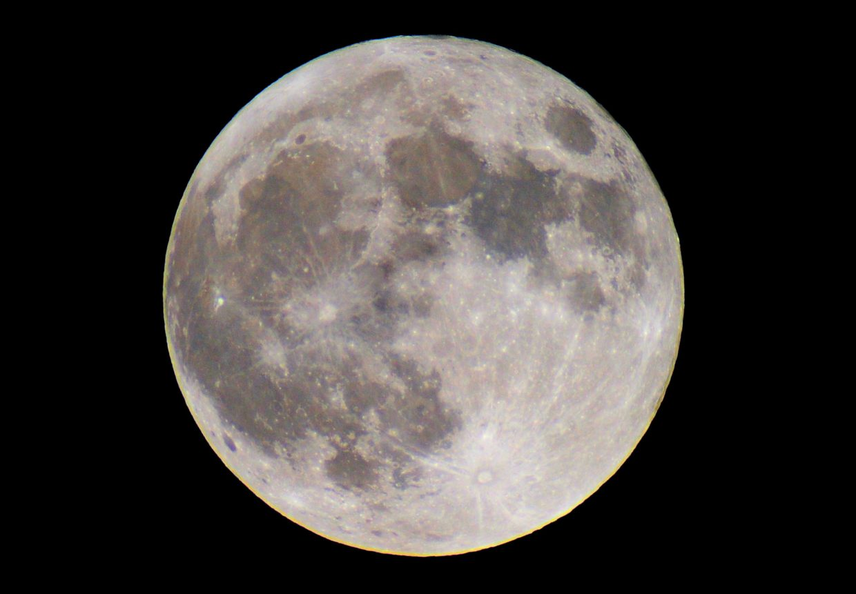 """Next weekend's full moon will be a """"super moon,"""" when the full moon coincides with lunar perigee and the moon will look 7 percent larger than your average full moon. The Perseid meteor shower, which peaks early next week, will be washed out by the bright moonlight."""