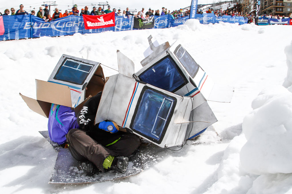 """""""Cardboard Classic - Gondy pile-up."""" Submitted by George Fargo."""