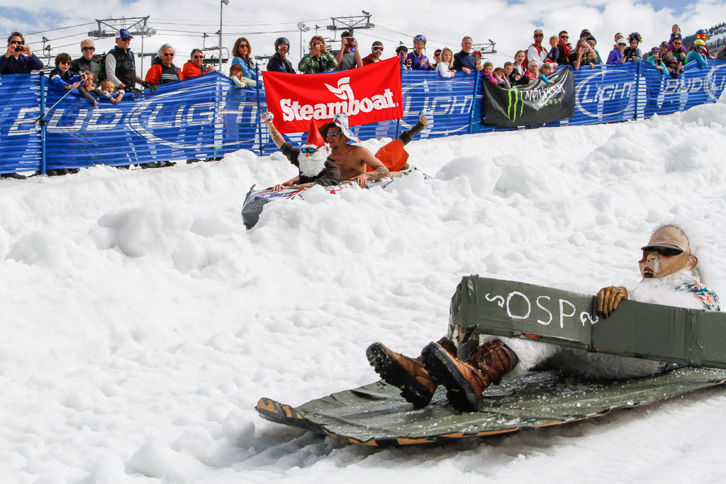 """""""Cardboard Classic - Yeti flip-flop in the lead."""" Submitted by George Fargo."""