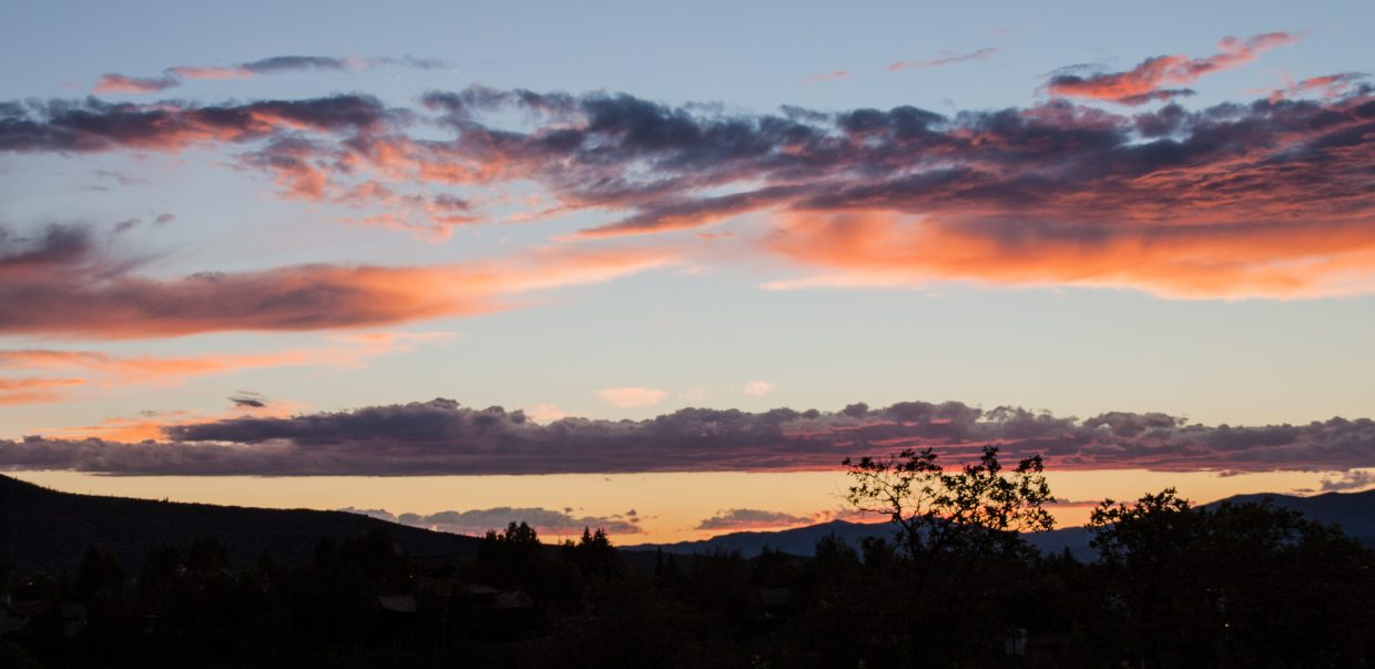 Steamboat sunset of Friday 7-24-15. Submitted by G. Fredric Reynolds.
