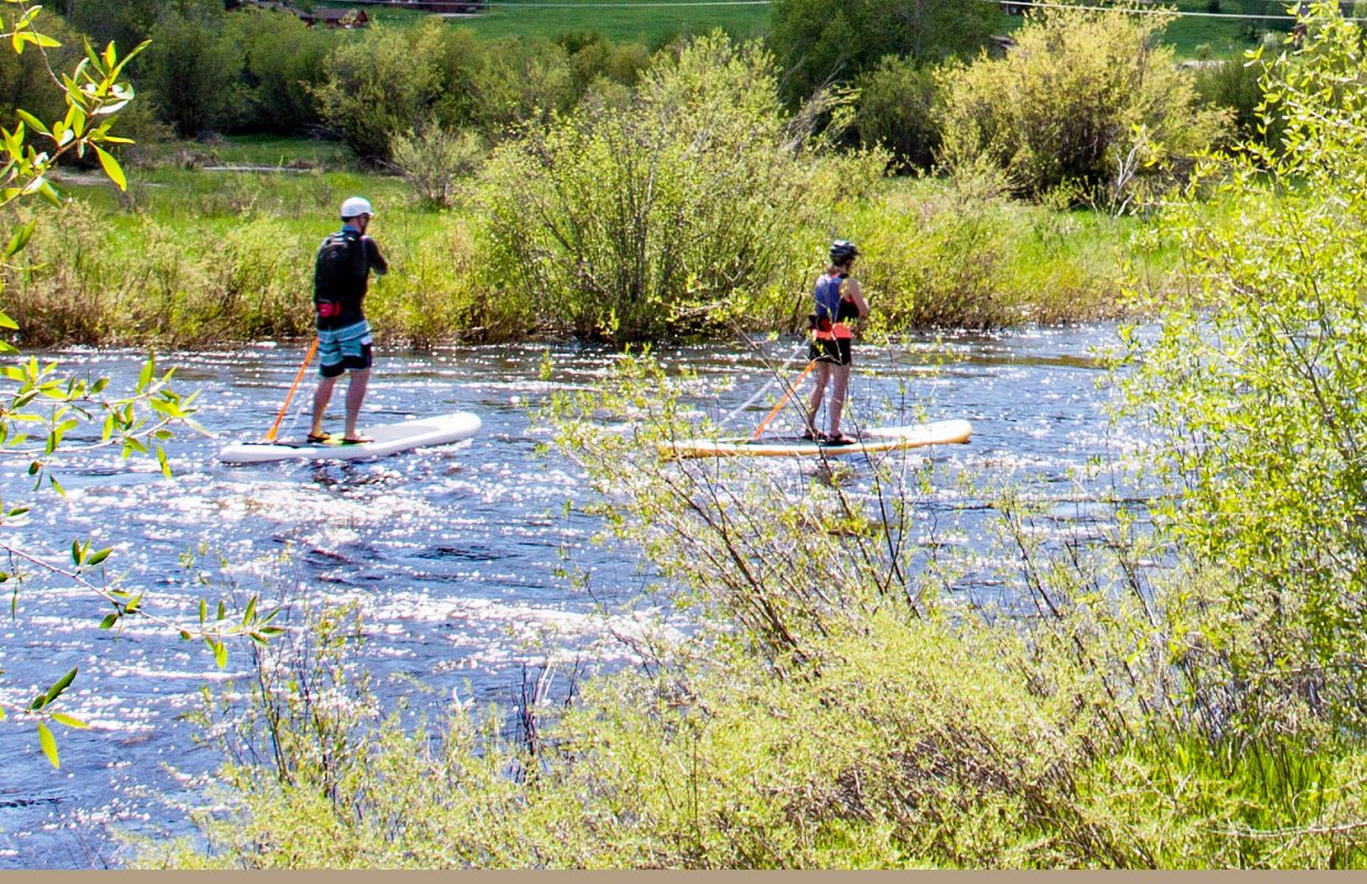 Paddleboarding the Yampa River. Submitted by G. Fredrick Reynolds.