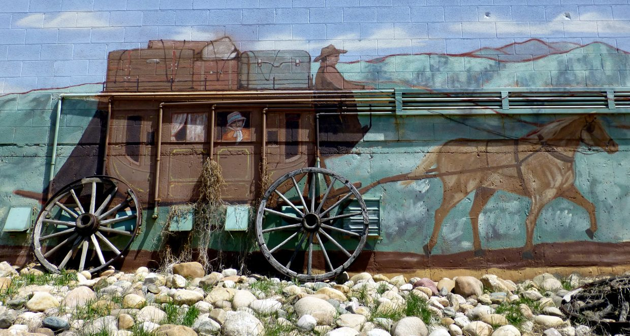 A mural on the back of a building along the bike path. Submitted by Gail Hanley.