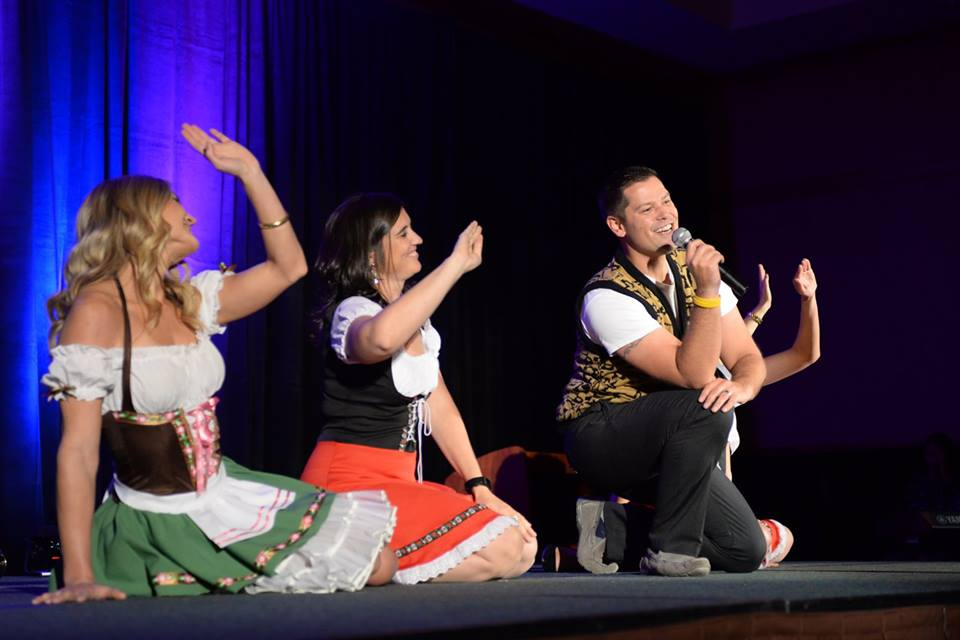 Geoff Pettis and his crew performs their 2015 champion lip sync performance at the 2016 Best of the Boat awards show.