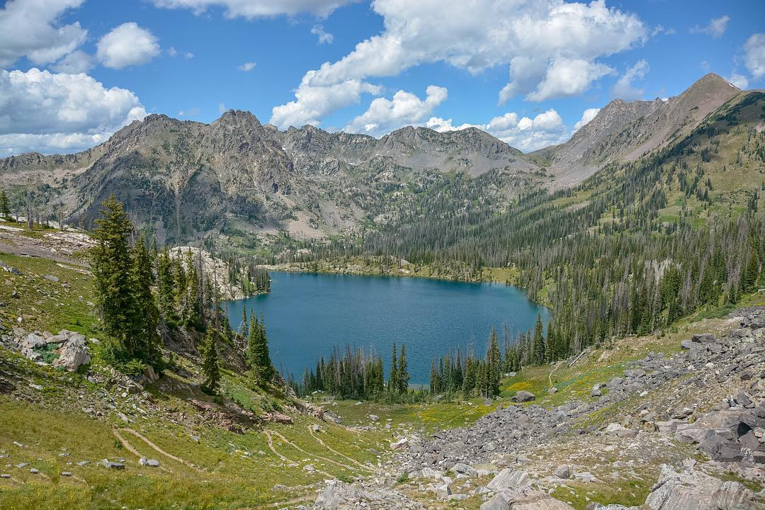 Afternoon shot of Gilpin Lake from the upper ridge of the Zirkel Circle trail. @mkolle01