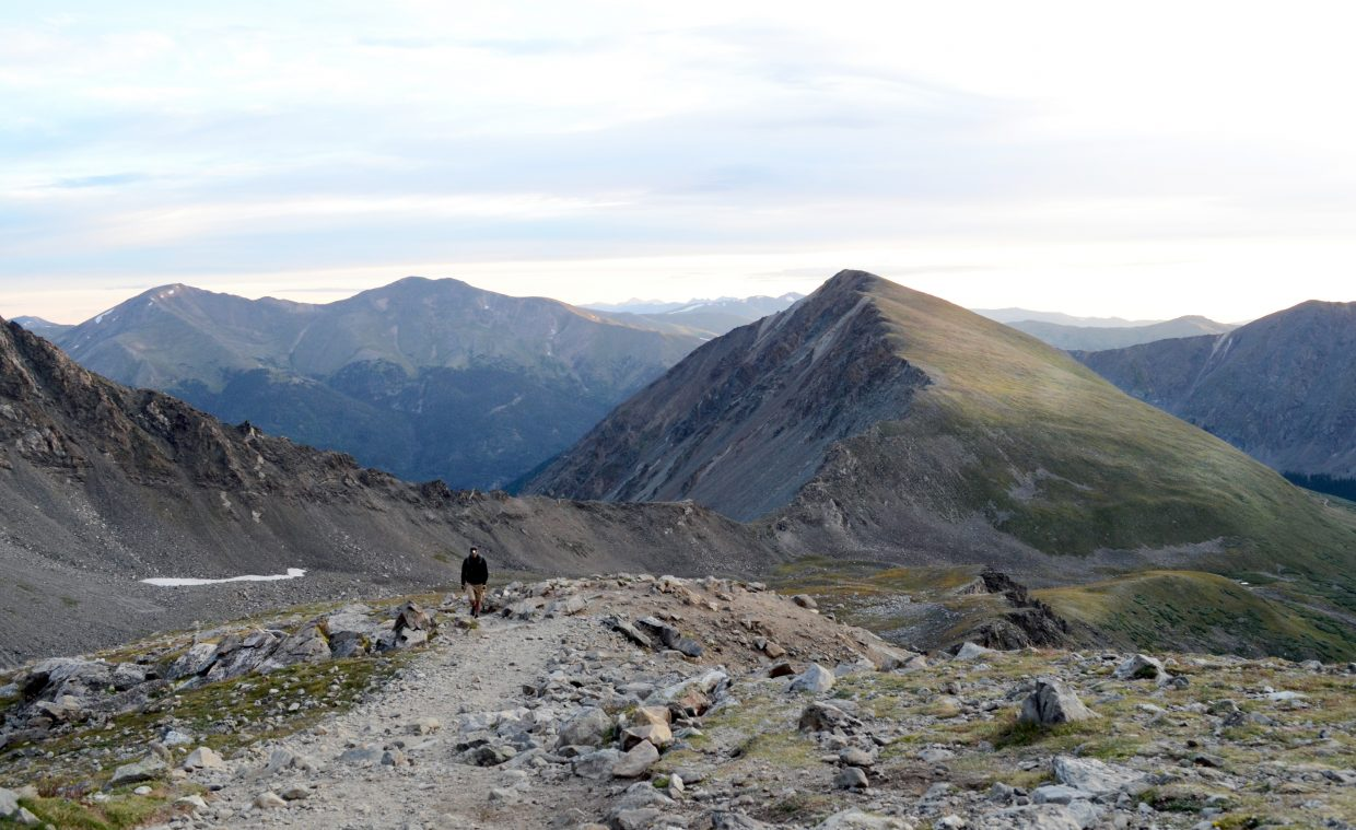 The trek to Grays Peak is a litle more than four miles long; and features a good mix of gradual and steep slopes to challenge climbers. The website 14ers.com lists Grays Peak as a Class 2 difficulty rating out of four classes.