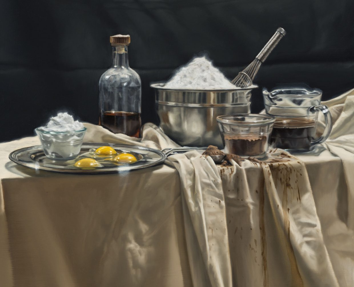 """A contemporary realist painting titled """"Tiramisu"""" by Gregory Block will be available for auction at the School Auction Night this Saturday, a benefit for the Challenge Fund."""