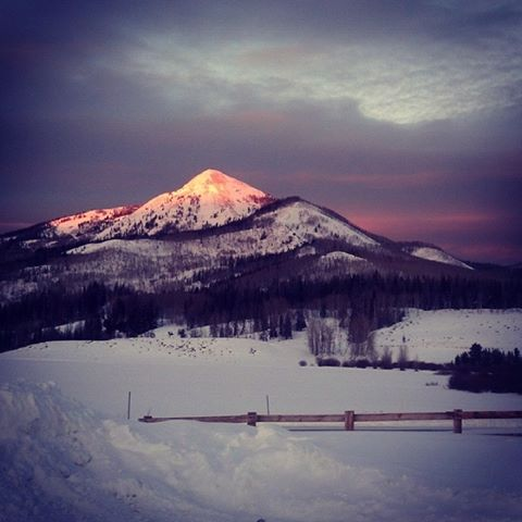 Hahn's Peak alpenglow. Submitted by: Julie Arington