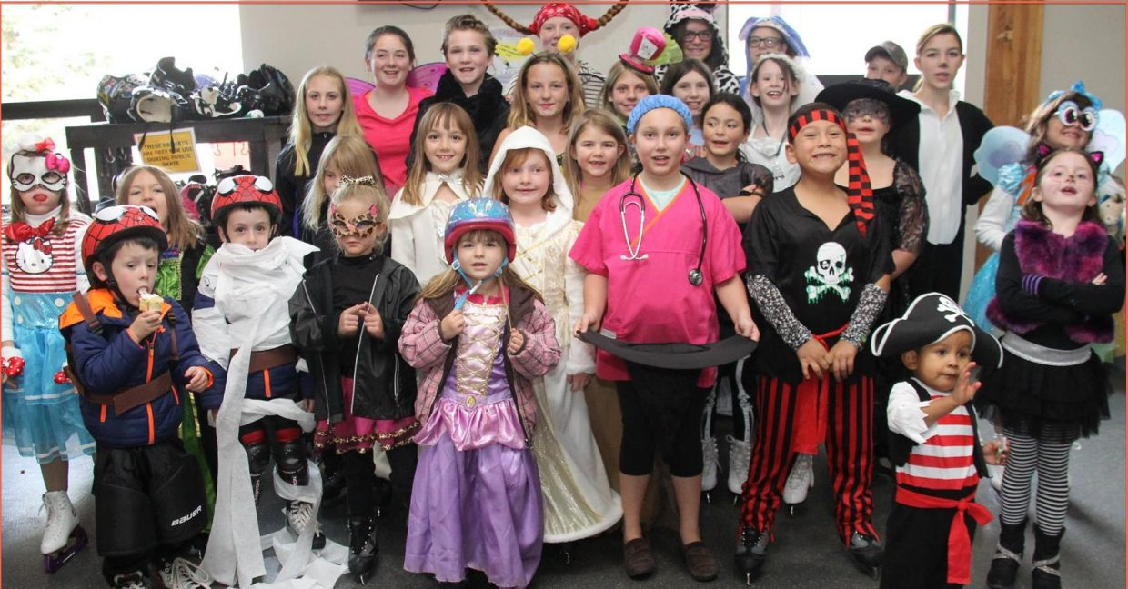 Members of the Steamboat Springs Figure Skating Club at the 2015 Halloween Skate-A-Thon and Costume Party.