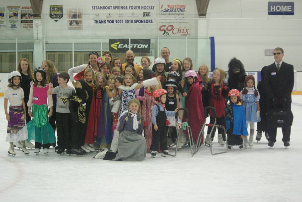 Members of the Steamboat Springs Figure Skating Club at the 2015 Halloween Skate-A-Thon and Costume Party at Howelsen Ice Arena.