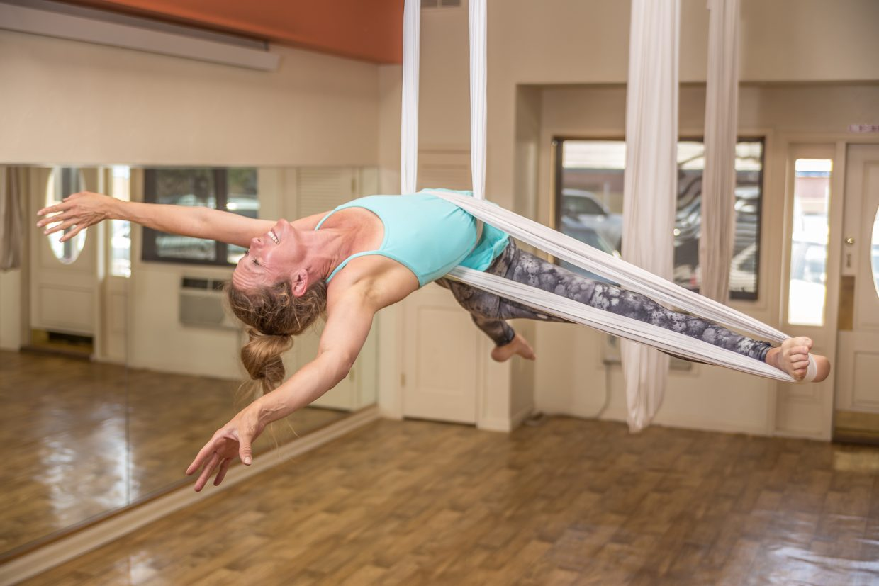 Aerial artist Heidi Miller will perform with her students from Steamboat Pilates, Yoga and Fitness during this year's All Arts Festival 2016: The Creative Circus, which is being held in downtown Steamboat Springs Aug. 18 to 21.