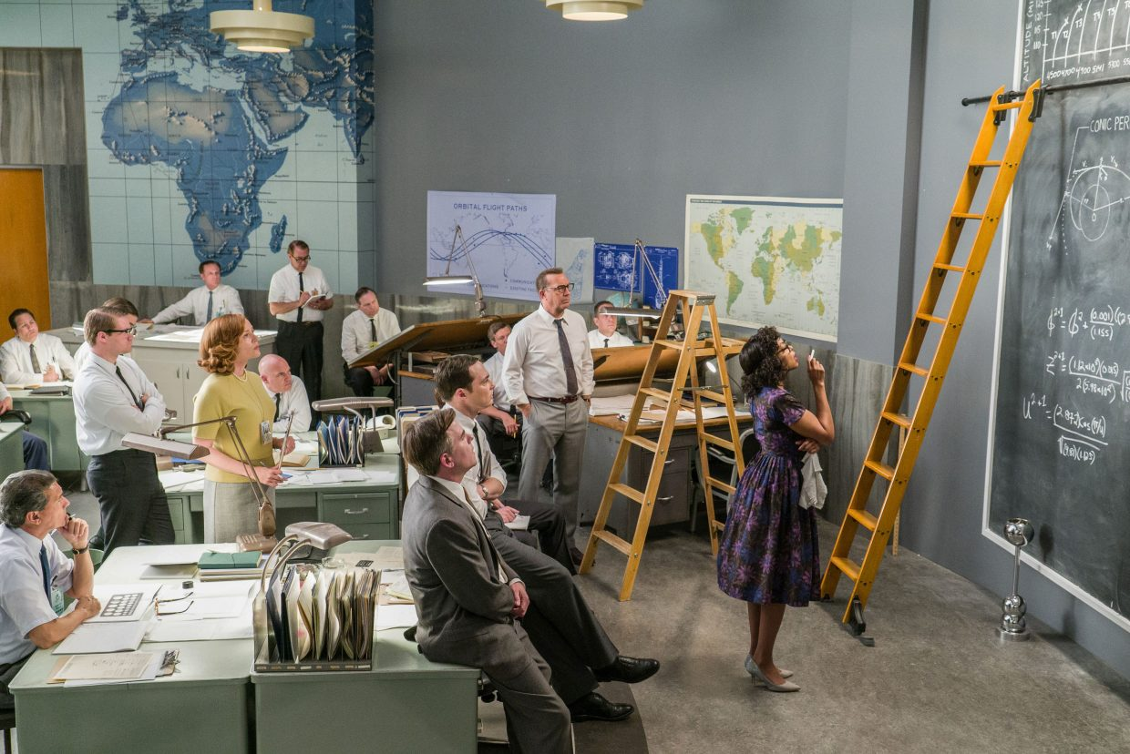"""Katherine Goble (Taraji P. Henson) oversees the many space flight calculations involved in NASA launches in """"Hidden Figures."""" The movie is about several African-American women who played a part in America's Space Race."""