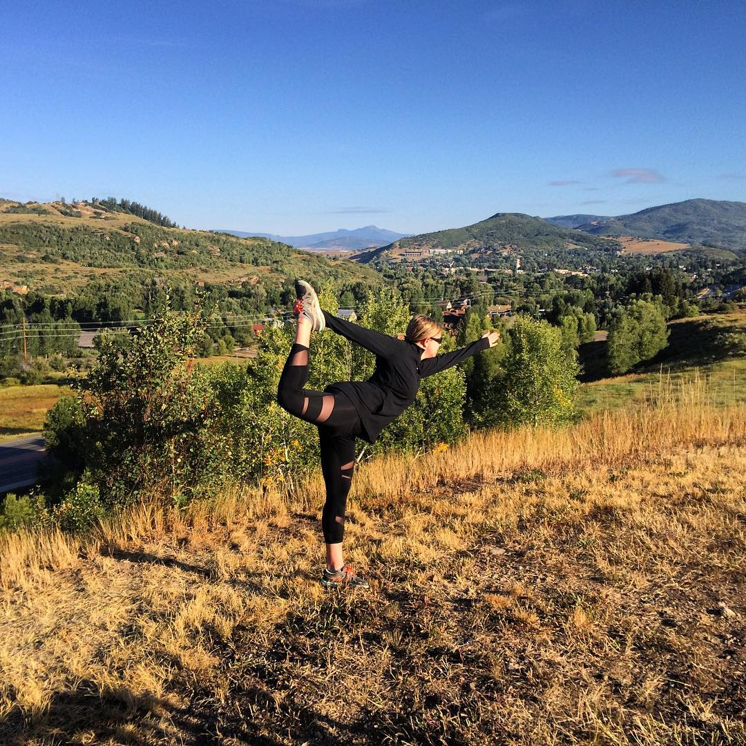 Running hills at 7,000 feet. @elevatewithkate