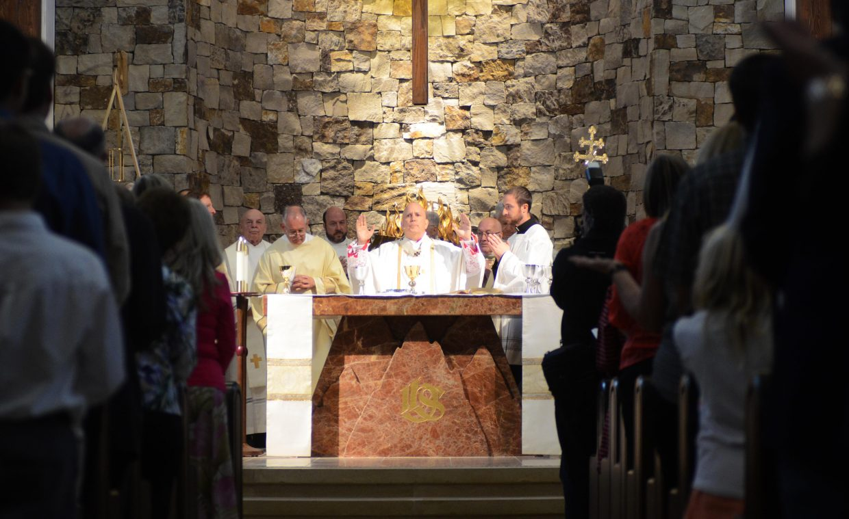 The Rev. Samuel J. Aquila, archbishop of Denver, dedicated the new Holy Name Catholic Church on Oak Street in downtown Steamboat Springs. Hundreds were on hand Sunday for the dedication.
