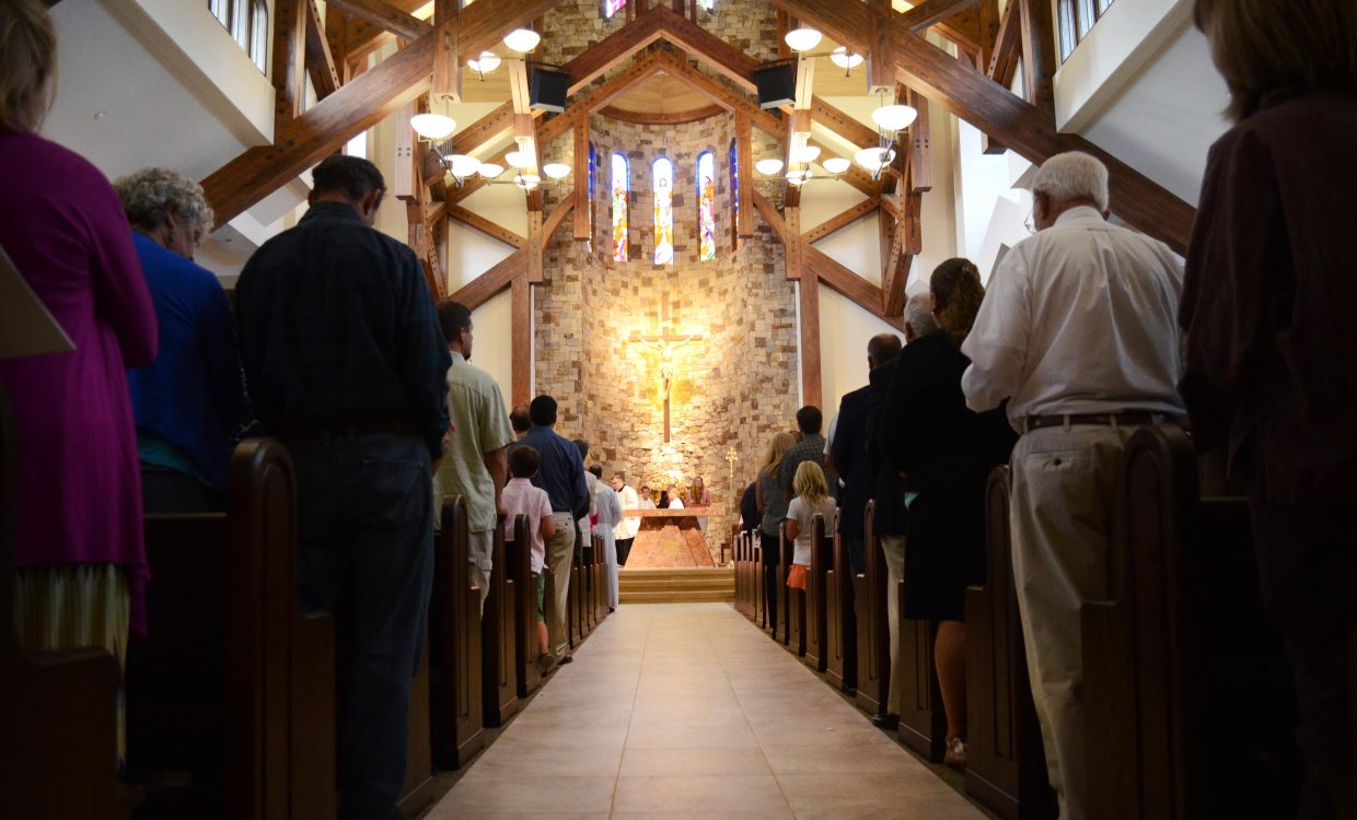 Hundreds of guests and dozens of musicians helped open the new Holy Name Catholic Church in downtown Steamboat Springs on Sunday for its dedication.
