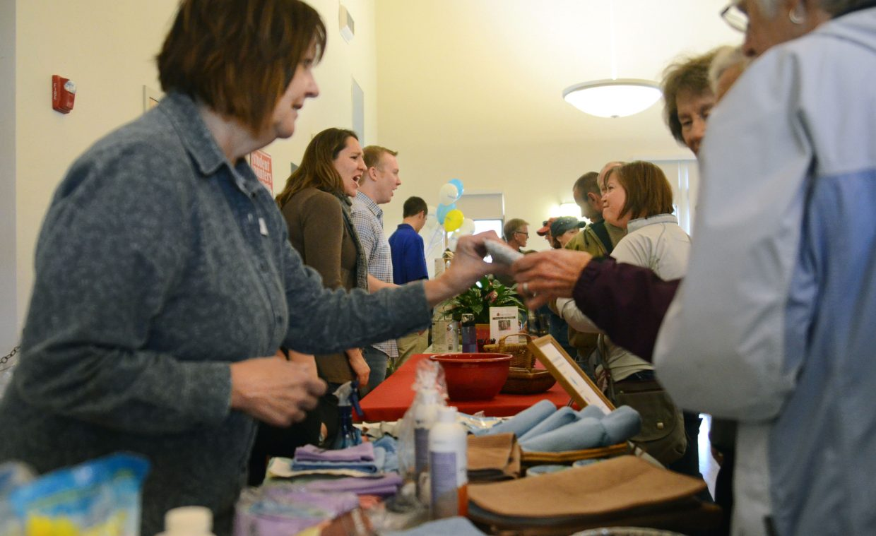 The Steamboat Springs Community Center and its parking lot were crowded Saturday morning and afternoon for the Home and Garden Expo, which featured dozens of booths, free food, games and do-it-yourself projects.