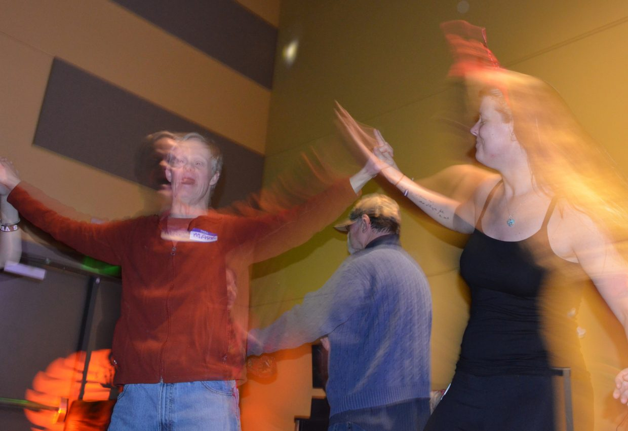 Horizons Special Services client Mark Leftwich (left) and Colorado Mountain College student Tiffany Russell, right, enjoyed the Valentine's Dance at CMC on Feb. 11.