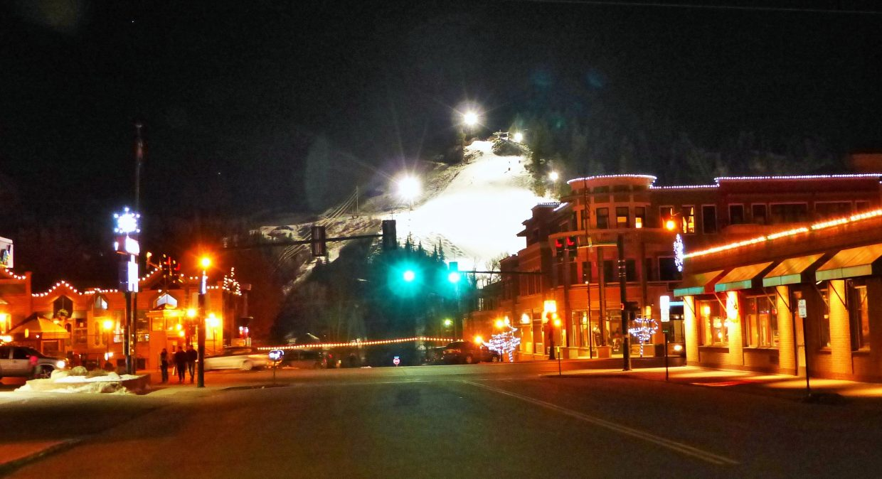 Howelsen at night. Submitted by: Shannon Lukens