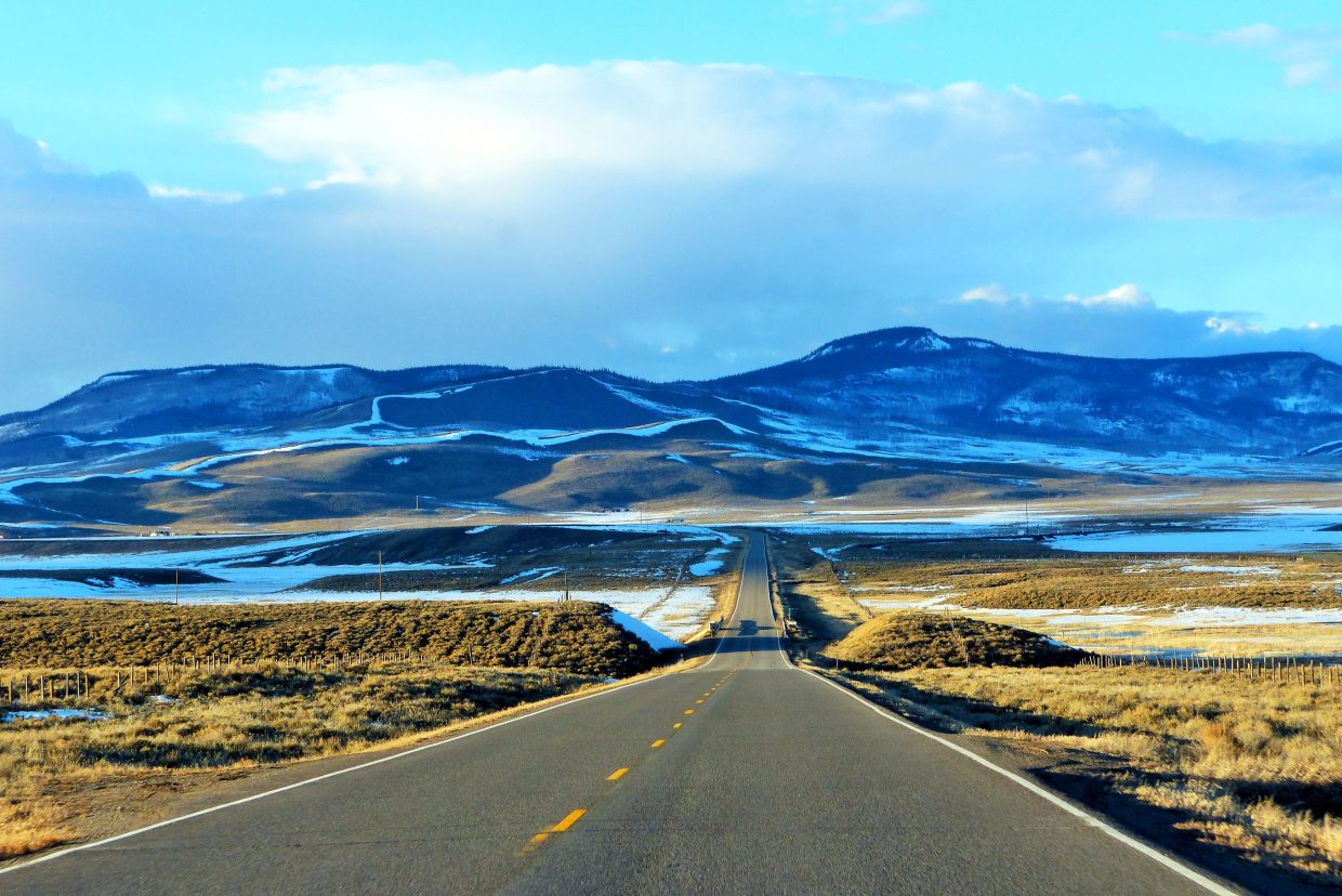 A long desolate stretch of Highway 131, just south of the town of Toponas. Submitted by Shannon Lukens.