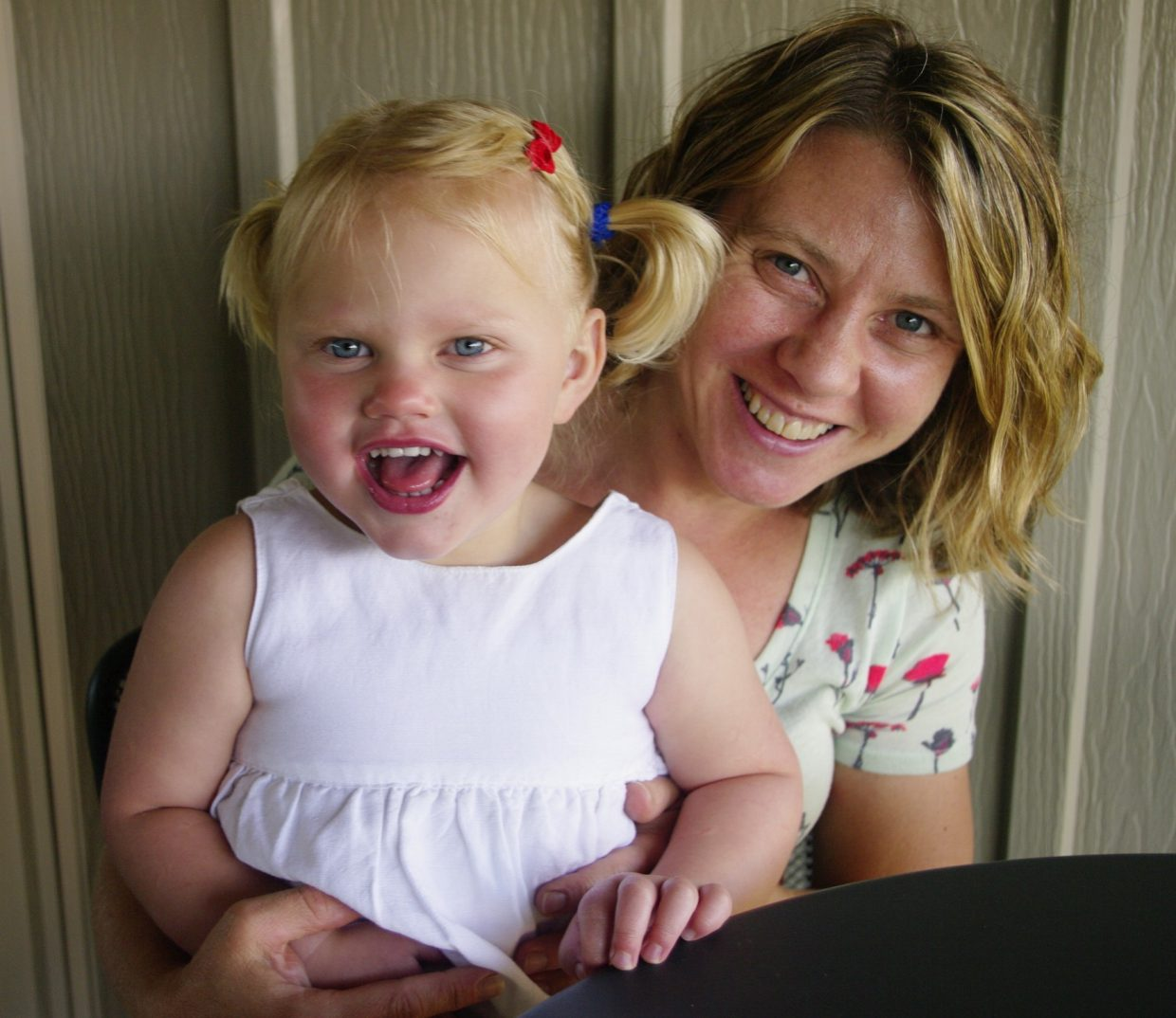 Kelly Bastone and her energy-filled 3-year-old Simone.