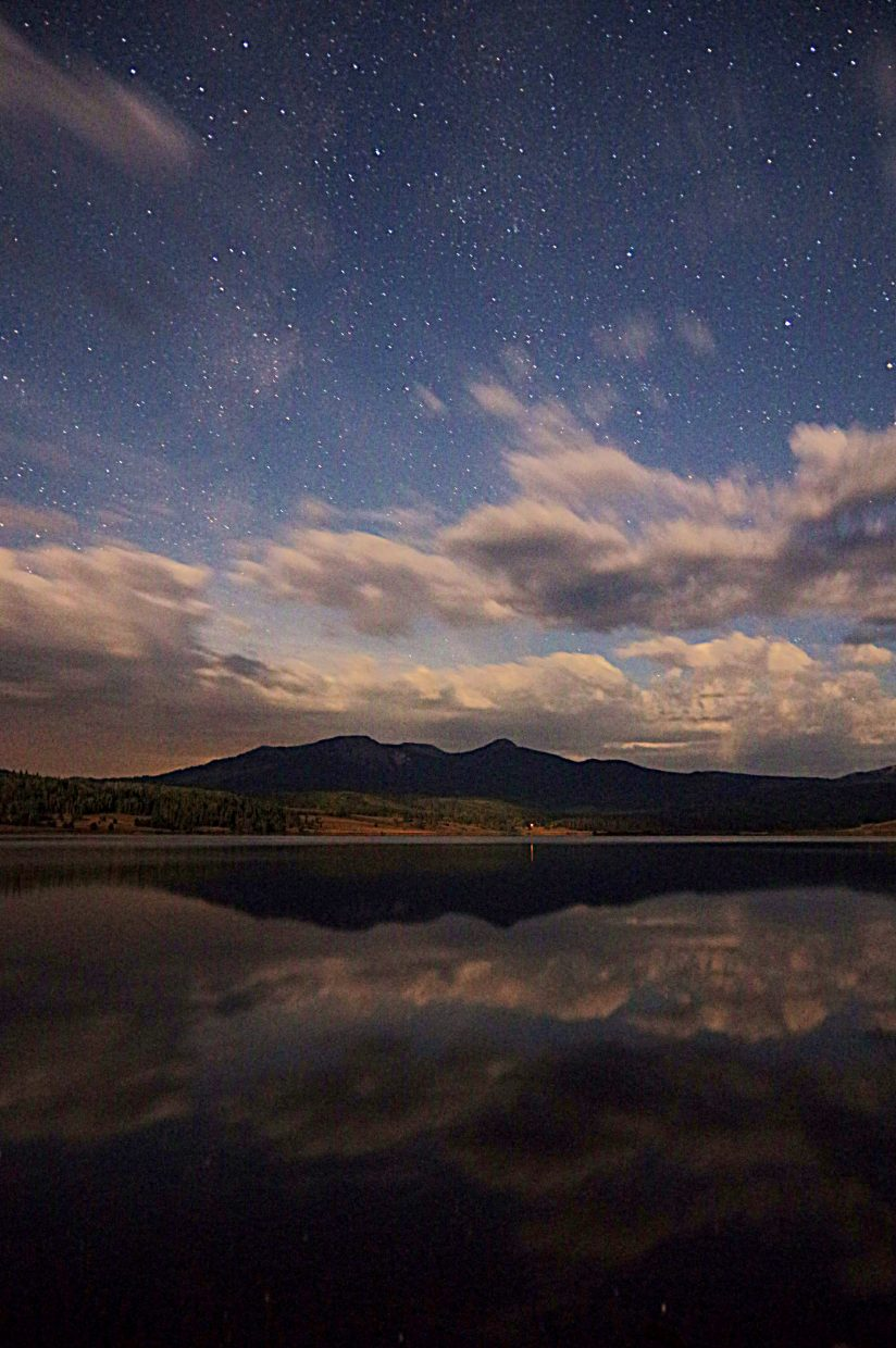 Steamboat Lake night reflection. Submitted by: Matt Helm