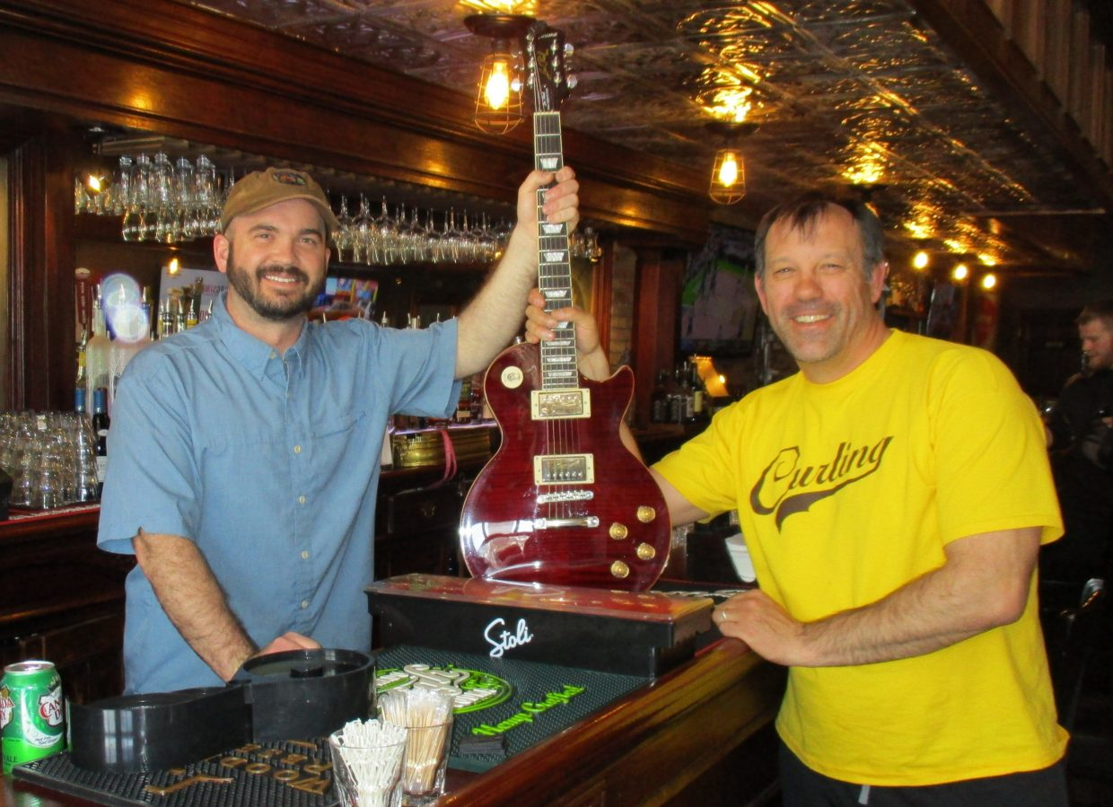 Sean Regan, owner of Old Town Pub, pictured at left, and local musician Tommy Larson are looking for local musicians to play at Yampapalooza, an-day music festival that will be held from 3 p.m. to close Saturday, May 6 at OTP.