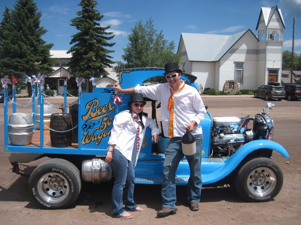 Shelby Viele and Ben Strait at the Yampa Fourth of July Parade. Submitted by: Diana Cole