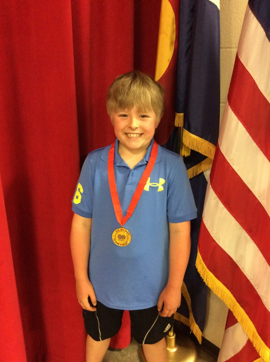 This is Connor Stevenson a 2nd grader at Strawberry Park Elementary. Connor raised $1650.00 during Jump Rope for Heart for the American Heart Association in honor of his little brother who is in Kindergarten at SPE as well. Way to go Connor! Submitted by Allison Sabat.