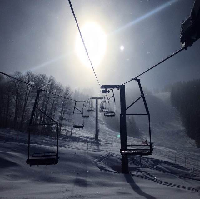 Bar UE chairlift on a foggy morning. Submitted by Michael Greene.