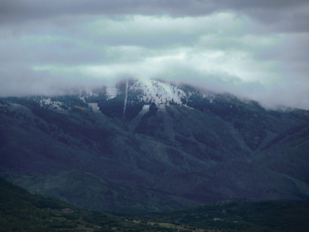 8 a.m. Monday: First snow on the new Four Points Lodge. Submitted by: Don Borden
