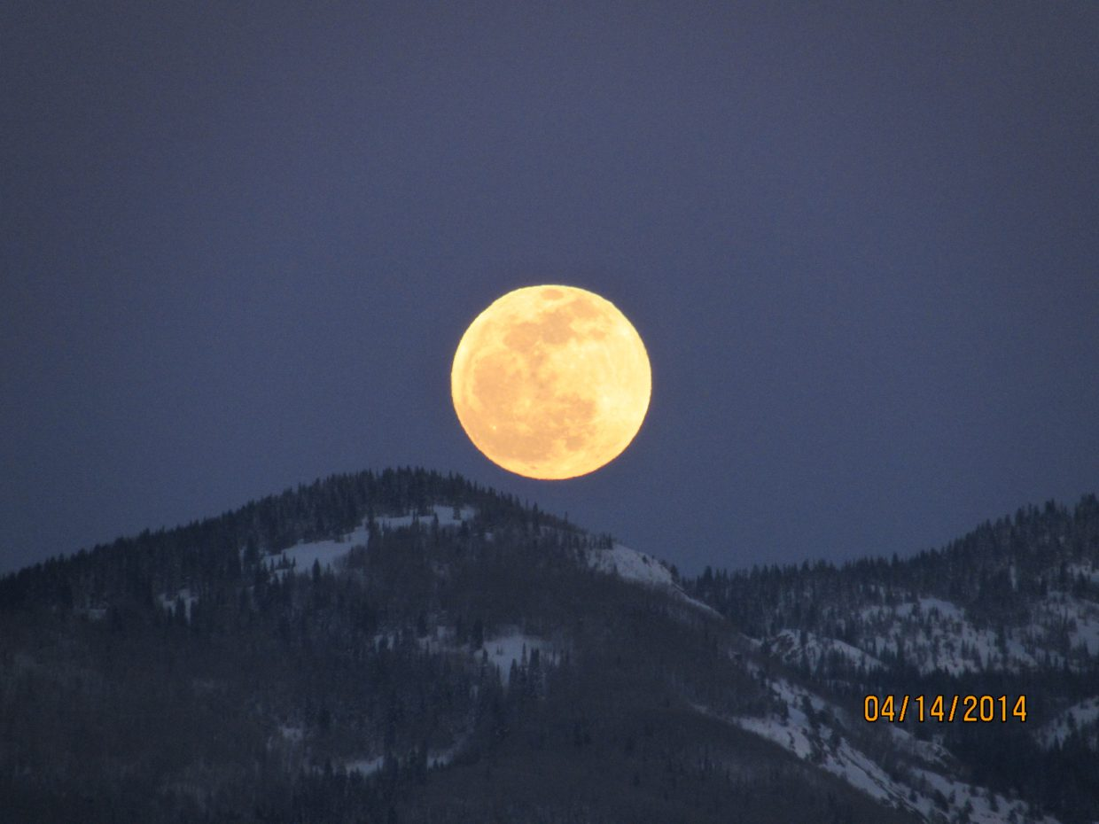 The full moon coming up Tuesday. Submitted by: Tod Anderson