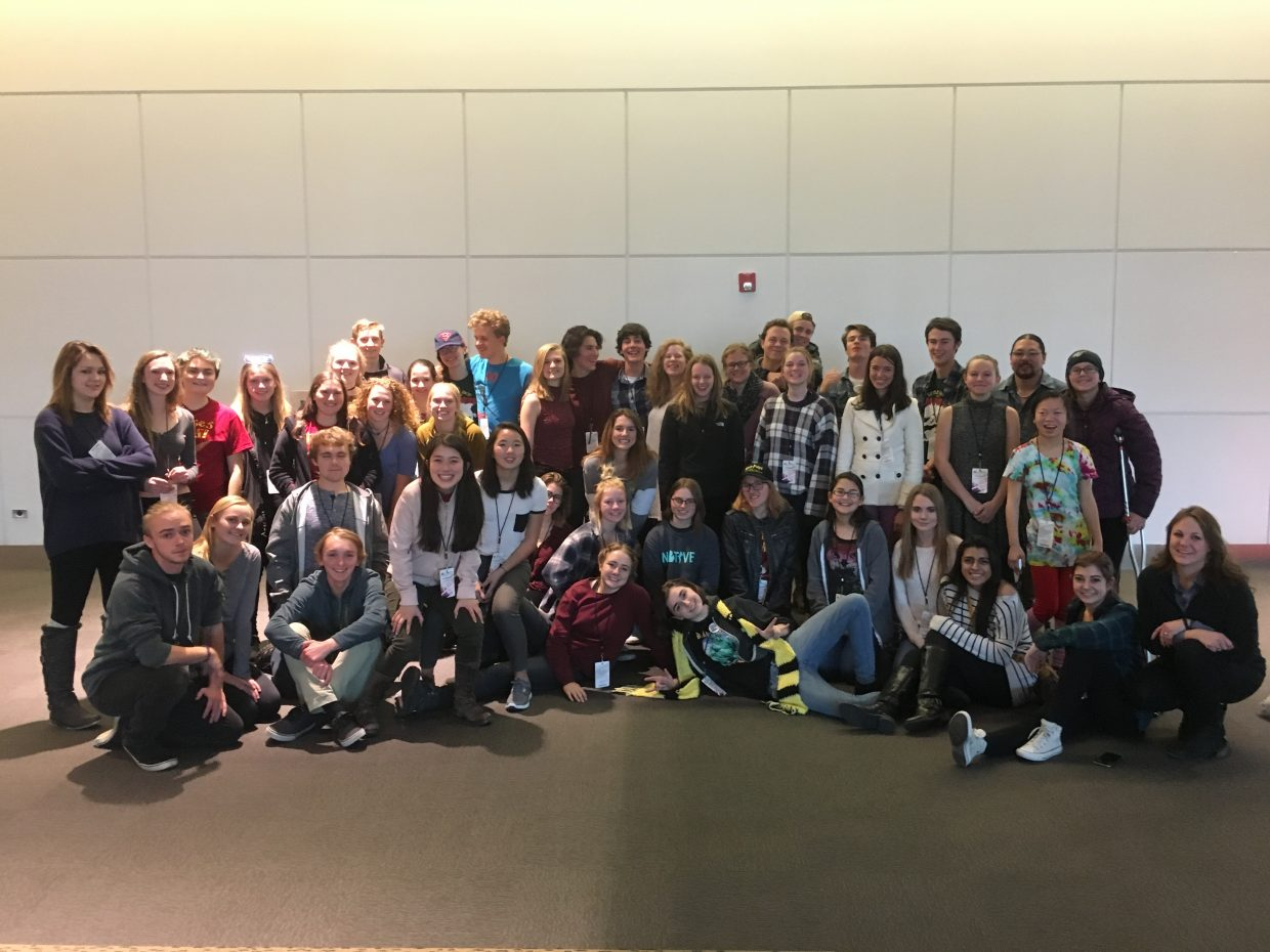 The Steamboat Springs High School drama troupe has a record number of students participating this year. The troupe will be sending 17 students to nationals following a strong showing at the 2016 Colorado Thespian Convention.