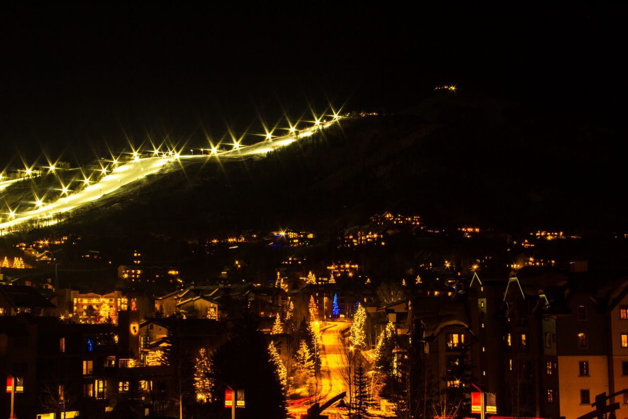 This is a long-exposure shot I took of the ski mountain at night. Submitted by Connor Rudmann.