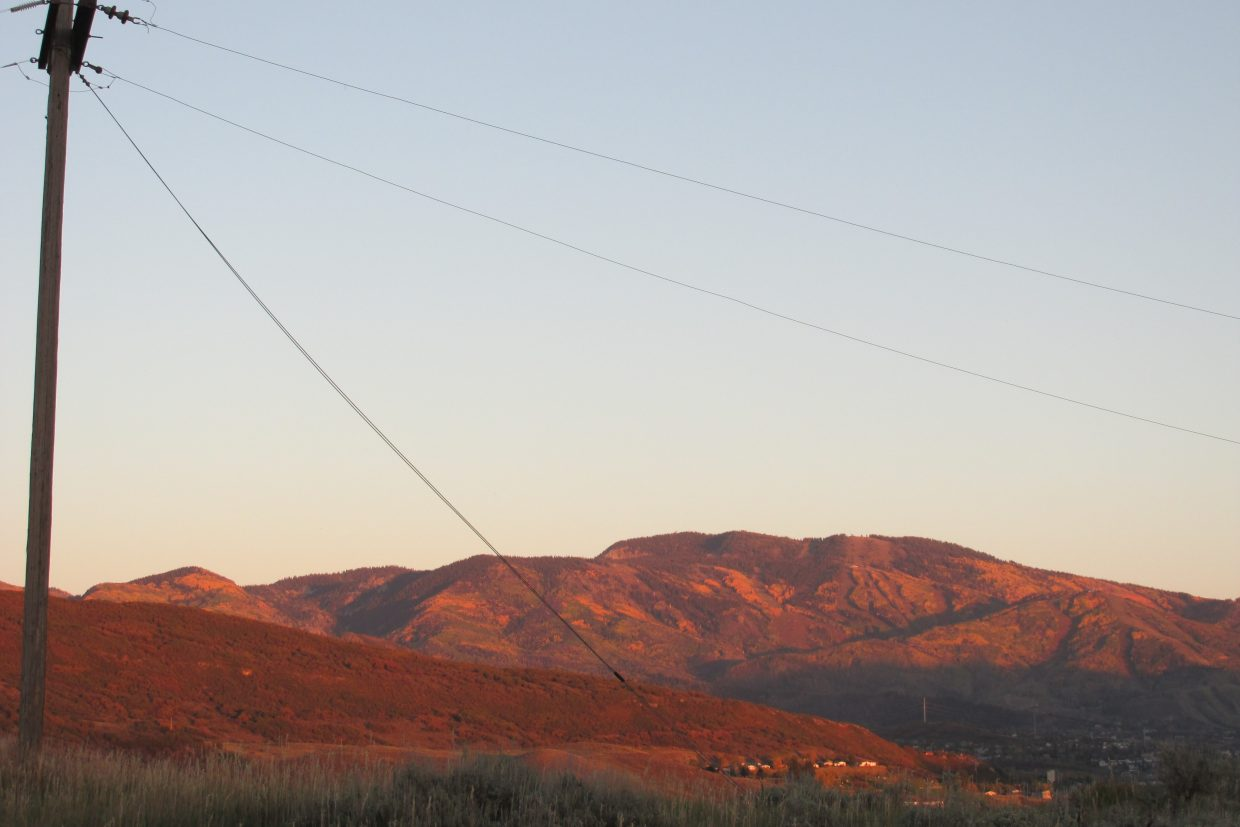 """Alpenglow on the Ski Mountain,"" taken before the snow. Submitted by Bill Dorr."