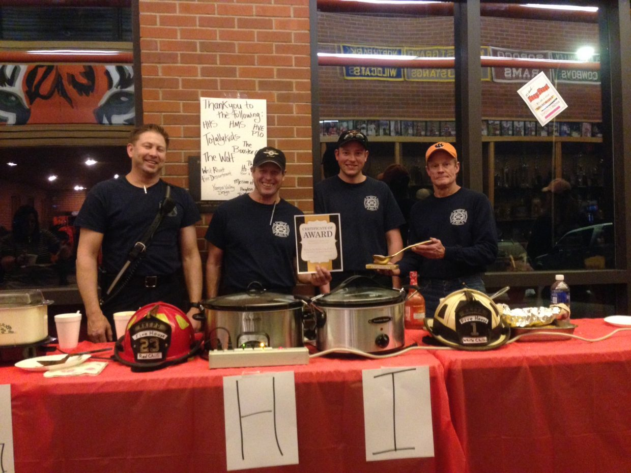 West Routt Fire took first place at the Hayden High School Chili Challenge Friday night.
