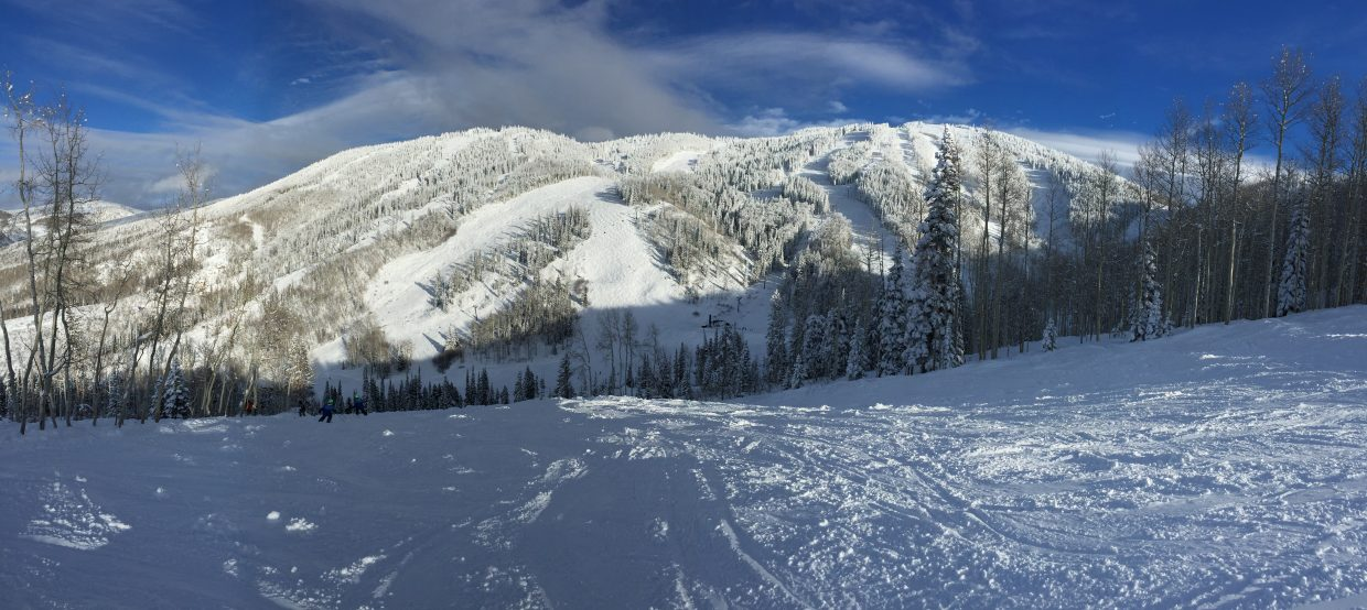 Taken today while snow shoeing. Submitted by: Brian Unterman.