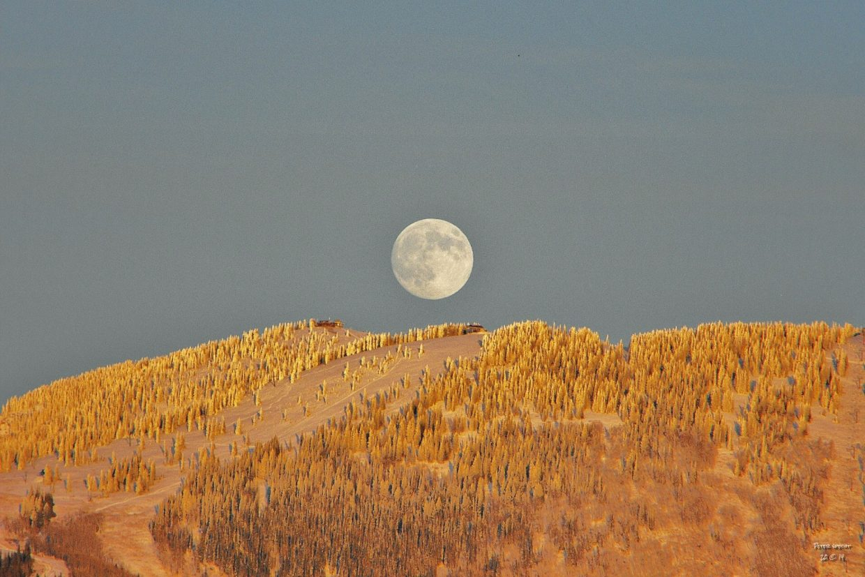 October, just days before opening. Moon over the top of Morning Side. Submitted by: Peter Specht.f