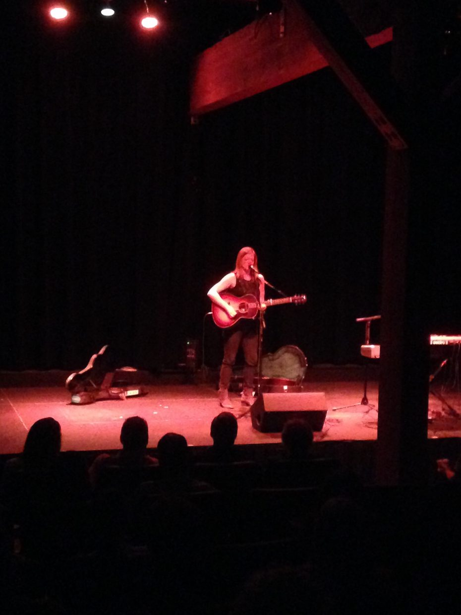Liz Longley at the Chief Theater Friday night.