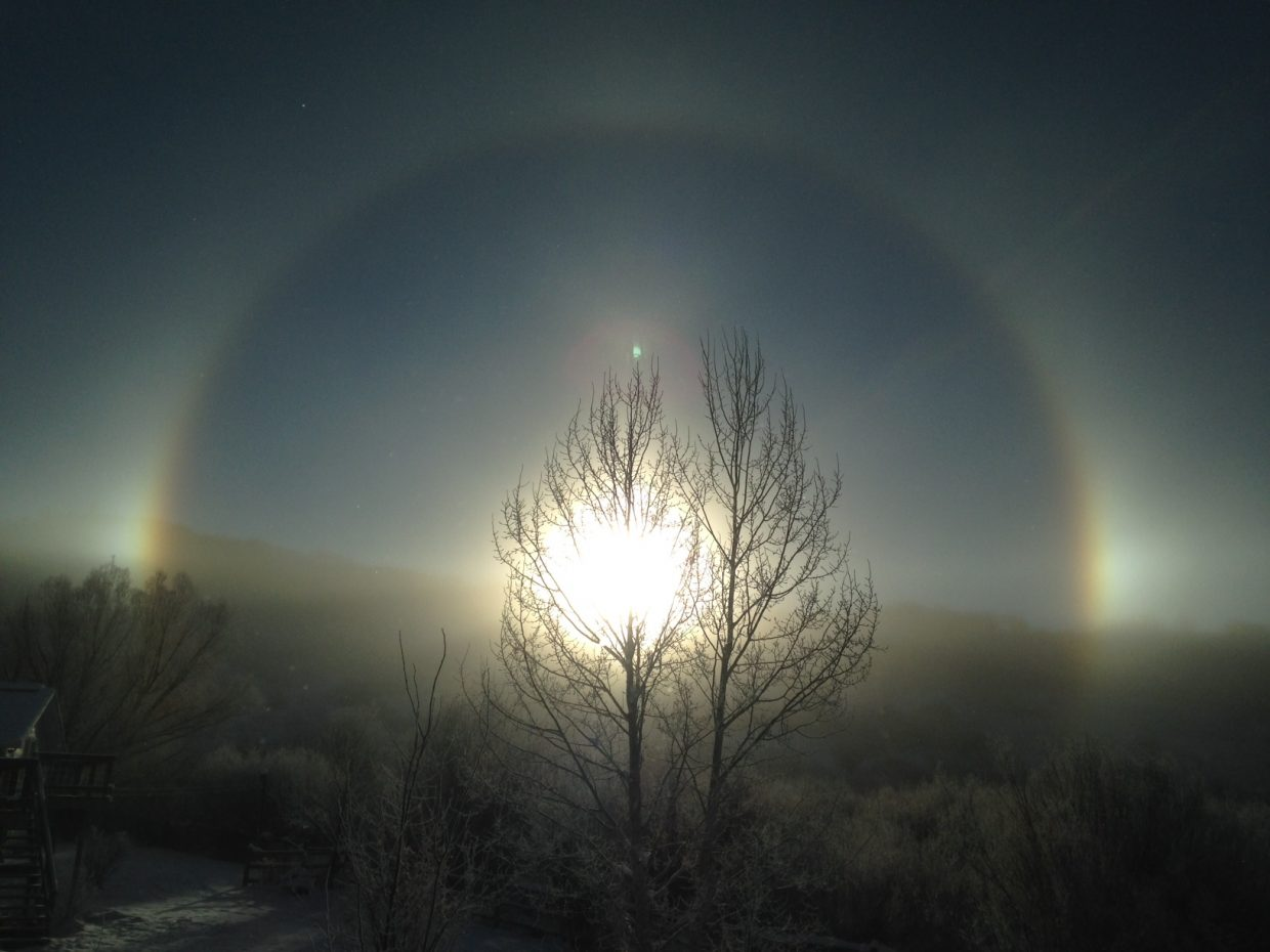"""Saturday morning sun dog."" Submitted by Kevin Anderson."