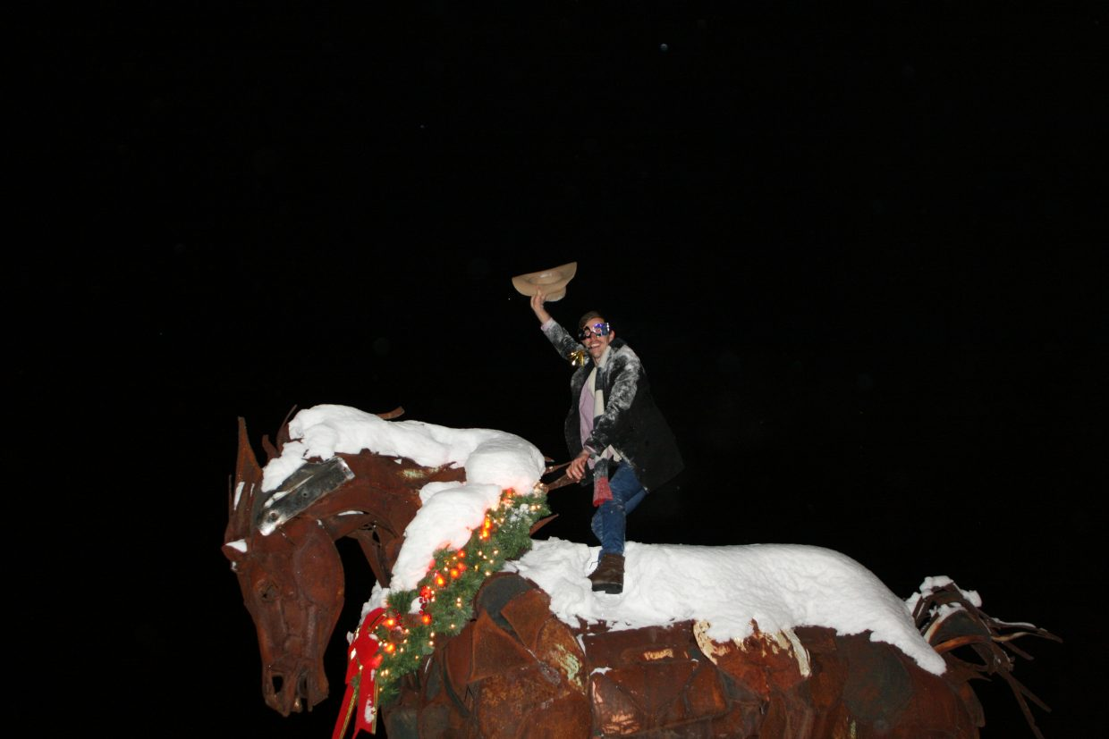 New Year's Eve Aussie Cowboy breaks the Wild Horse! Photo submitted by: Walter Sofronoff.