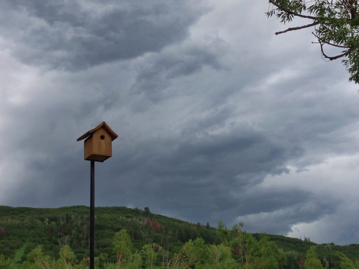 The sky over Steamboat is being a bit dramatic today. Submitted by: Jeff Hall