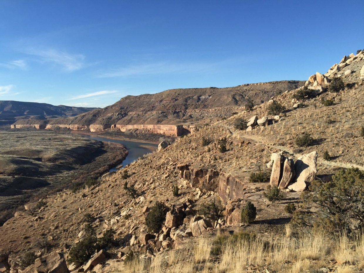 Fruita singletrack, 50 degrees. Submitted by: Brandon Oss