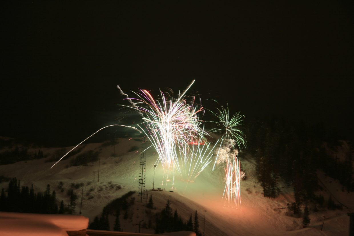 Winter Carnival fireworks from downtown. Submitted by: Peter Parsons