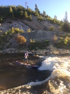 This is me on my first ever try at paddleboarding. Submitted by: Adam Gray