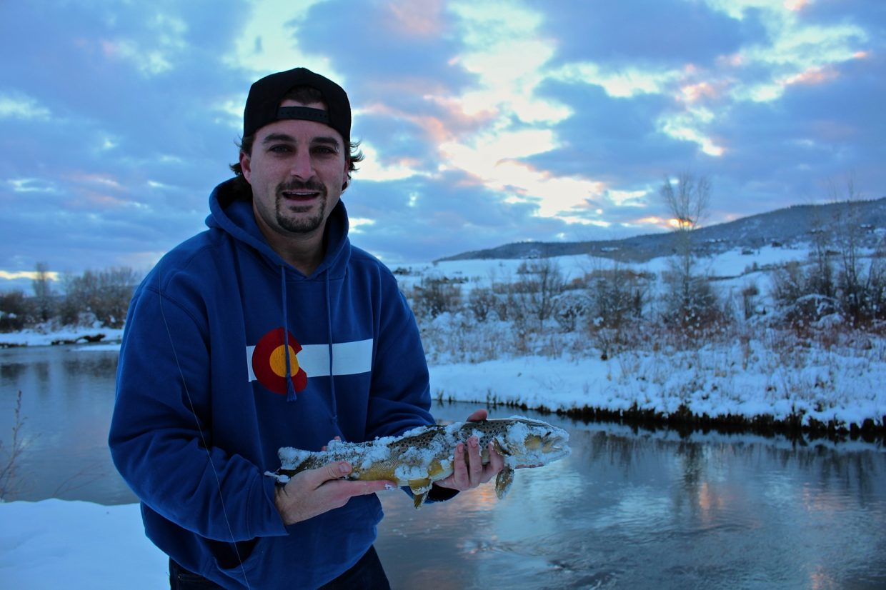 Matt catching fish on the Yampa River during sunset on Nov. 17. Submitted by: Ryan Lohan