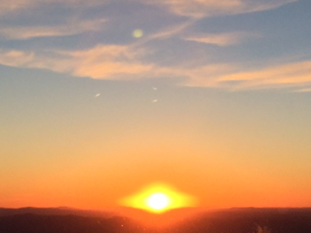 Sunset from Four Points Lodge. Submitted by Catherine Kurtz.